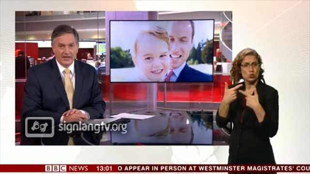 BBC News at One British Sign Language news