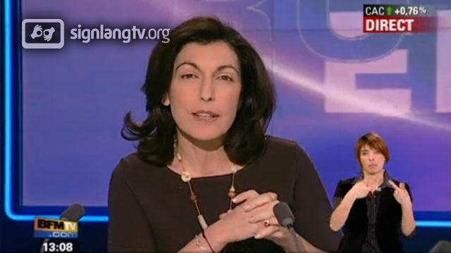 BFM TV Journal - French Sign Language news