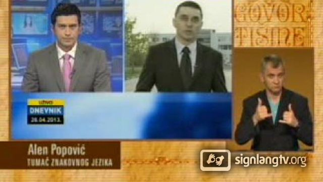 BHRT Govor tisine - Bosnian Sign Language news