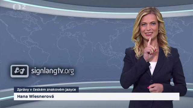 CT Zpravy w ceskem znakovym jazyce - Deaf Czech Sign Language news