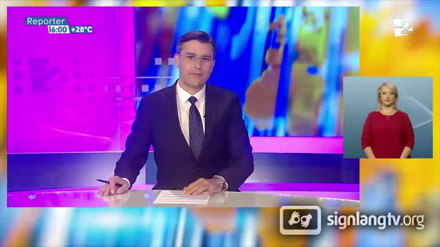 Canal 2 Reporter - Moldavian Sign Language news