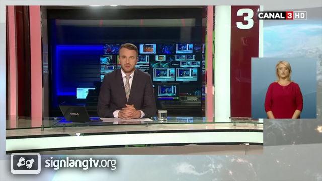 Canal 3 Stiri - Moldavian Sign Language news