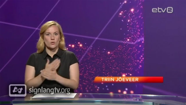 ERR Viipekeelsed Uudised - Deaf Estonian Sign Language news