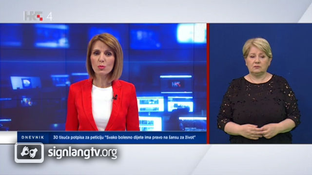 HRT Dnevnik - Croatian Sign Language news