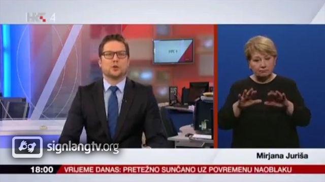HRT Vijesti uz hrvatski znakovni jezik - Croatian Sign Language news