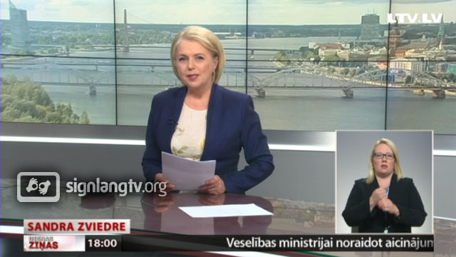 LTV Dienas Zinas - Latvian Sign Language news