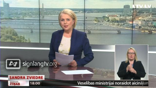LTV Dienas Zinas - Latvian Sign Language news