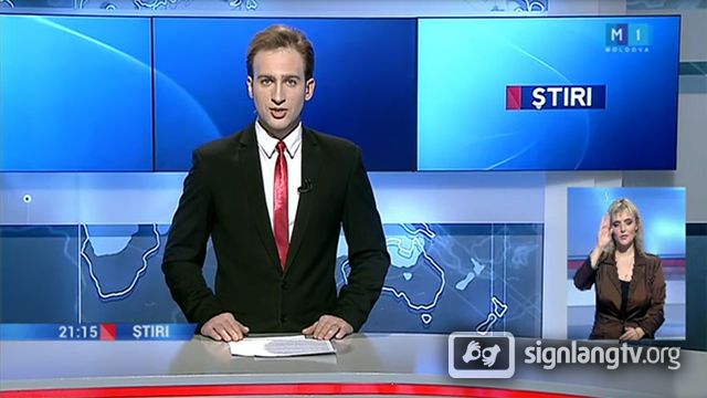 M1 Stiri - Moldavian Sign Language news