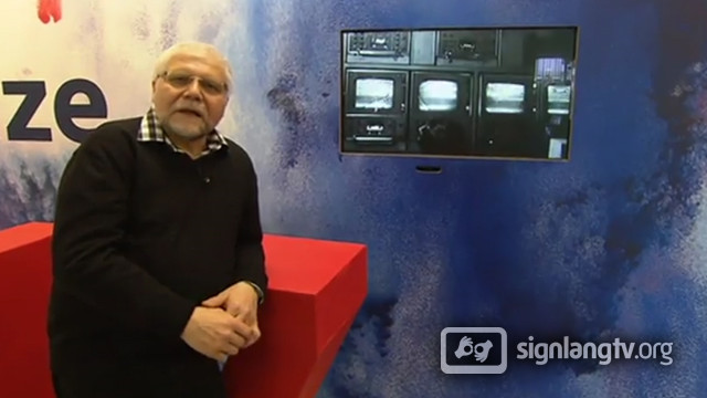 Josef Brozik - Czech Sign Language Deaf TV presenter