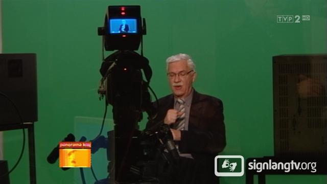 Zbigniew Grzegorzewski - TV Polish Sign Language interpreter