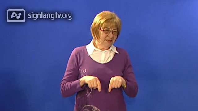 Emilie Mrzilkova - TV Czech Sign Language interpreter