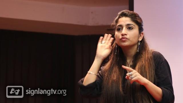 Smriti Nagpal - TV Indian Sign Language interpreter