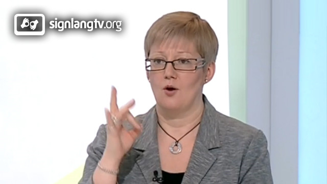 Varvara Romashkina - TV Russian Sign Language interpreter