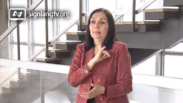 Darina Tarcsiova - TV Slovak Sign Language Interpreter