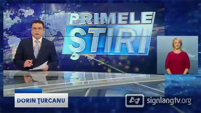 Prime Primele Stiri - Moldavian Sign Language news