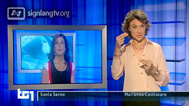 RAI TG 1 - Italian Sign Language news