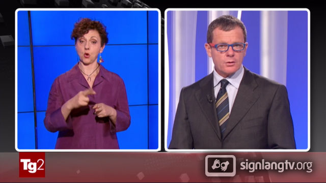RAI TG 2 Flash LIS - Italian Sign Language news