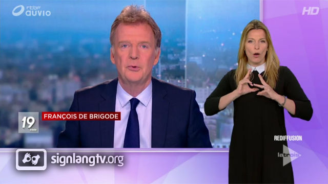 RTBF Le 19h30 - Belgian French Sign Language news