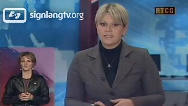 RTCG Dnevnik 1 - Montenegro Sign Language news