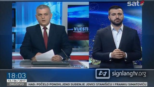 RTCG Dnevnik na znakovnom jeziku - Montenegrin Sign Language news