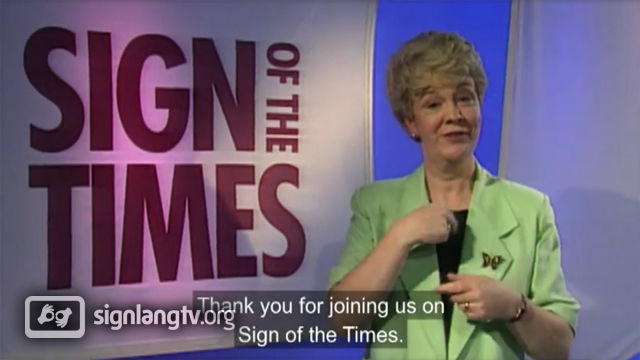 RTE Sign of the Times - Deaf TV Show in Irish Sign Language