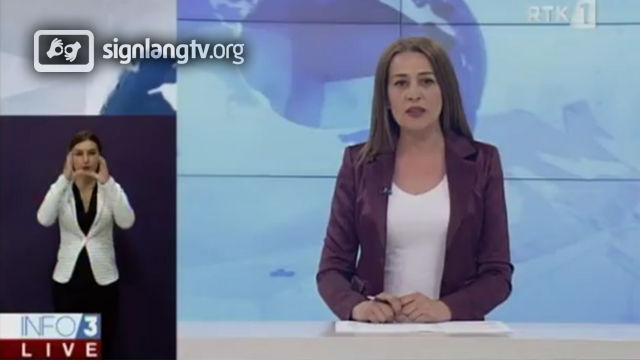 RTK Info 3 Live - Kosovar Sign Language news