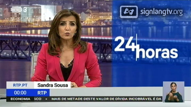 RTP 24 Horas - Portuguese Sign Language news