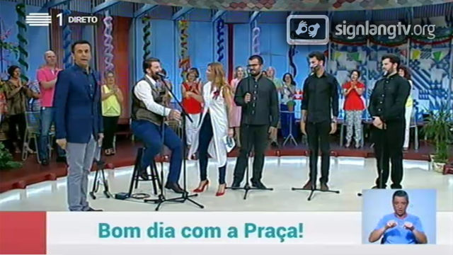 RTP A Praca - entertainment variety in Portuguese Sign Language