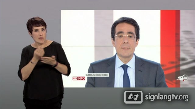 RTS Le19h30 - Swiss French Sign Language news