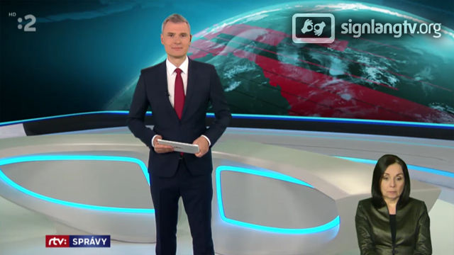 RTVS Spravy - Slovak Sign Language news