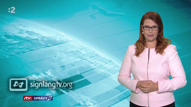 RTVS Spravy v slovenskom posunkovom jazyku - Deaf Slovak Sign Language news