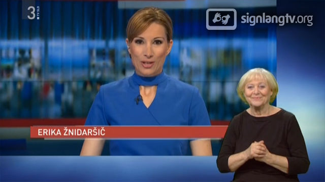 RTVSLO Dnevnik - Slovenian Sign Language news