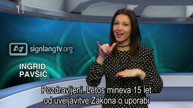 RTVSLO Prisluhnimo tisini - Deaf TV show in Slovenian Sign Language news