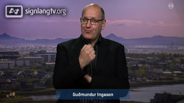 RUV Taknmalsfrettir - Icelandic Sign Language