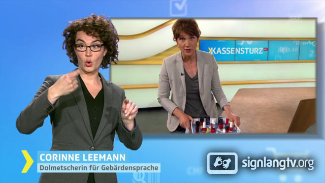 SRF Kassensturz - customers rights with Swiss German Sign Language news