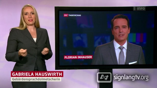 SRF Tagesschau - Swiss German Sign Language news