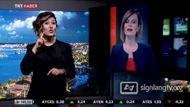 TRT Isitme Engelliler Haber Bulteni - Turkish Sign Language news