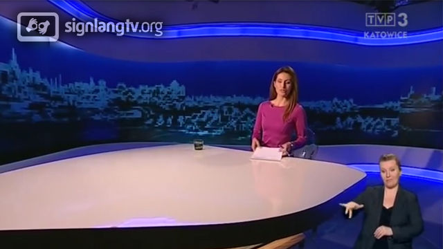 TVP Dziennik Regionow - Polish Sign Language news
