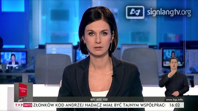 TVP Info Serwis Info Dzień - Polish Sign Language news