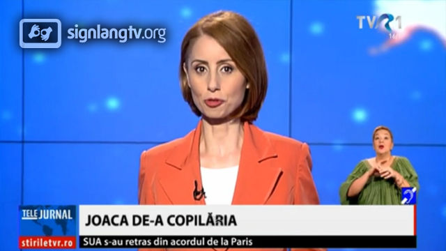 TVR Telejurnal TVR1 - Romanian Sign Language news