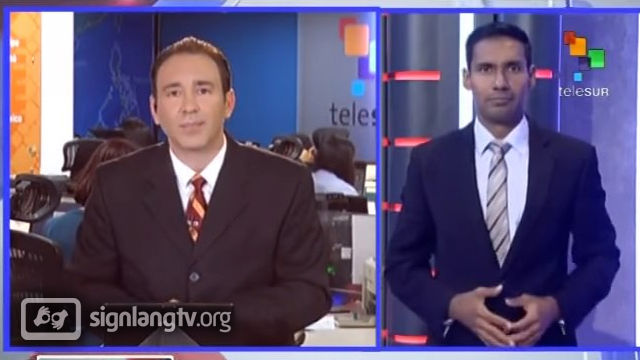Telesur Noticias en Lenguaje de Senas - Venezuelan Sign Language news