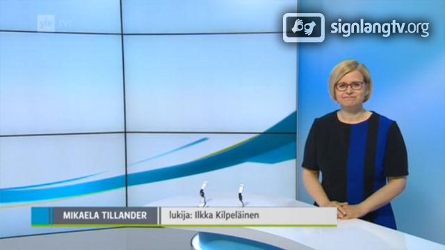 YLE Uutiset Viitokakielella Viiko vittottuna - Deaf Finnish Sign Language news